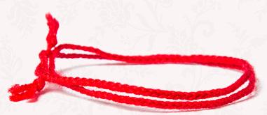 Хужинский браслет из красной нити купить